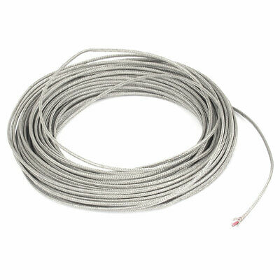 0-500C Temperature Range K Type Thermocouple Extension Wire Cable 3mm Width 74Ft