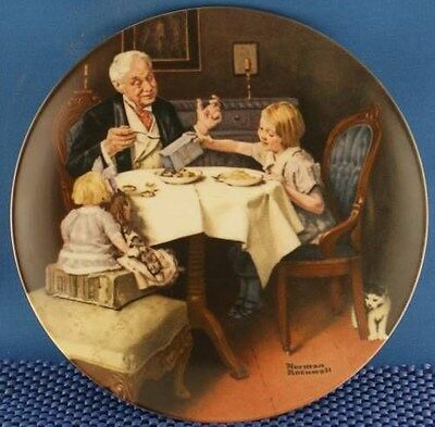 Norman Rockwell The Gourmet Heritage Series Plate.