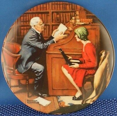 Norman Rockwell The Professor Heritage Series Plate.