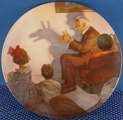 Norman Rockwell The Shadow Artist Heritage Series Plate.