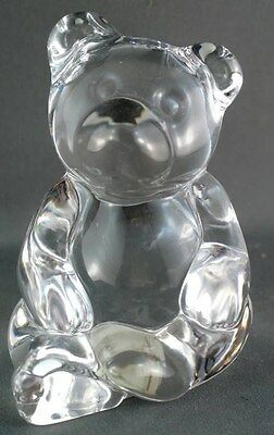 Princess House Pets Lead Crystal Teddy Bear Paperweight