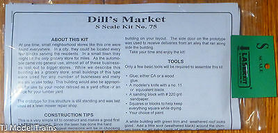 American Model Builders #75 Dill's Market (Building Kit) (S Scale)
