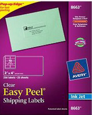 """Avery Dennison Ave-8663 Easy Peel Mailing Label - 2"""" Width X 4"""" Length"""
