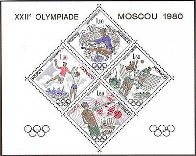 "MONACO STAMP STAMP BLOC SPECIAL 11 "" GAMES OLYMPIC MOSCOW 1980 "" NEW xx TTB"
