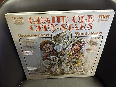Grand Ole Opry Stars vinyl 2x LP RCA Camden Grandpa Jones Minnie Pearl SEALED