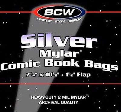20 Silver Age Comic Book 2 Mil Mylar Bags - NEW - Archival