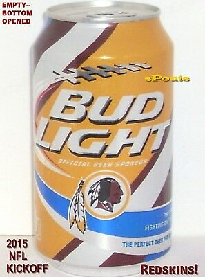2015 Washington Redskins Bud Light Nfl Kickoff Beer Can Football Capital Sport