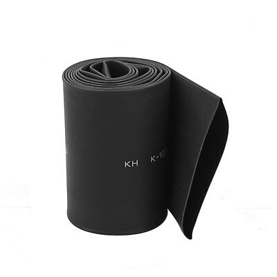 Black Electric Wire Cable Heat Shrink Tubing Tube Wrap Sleeve 1 Meter Length
