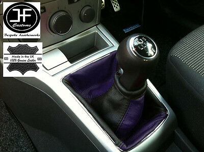 Black Purple Fits Opel Vauxhall Astra H Mk5 Mkv Stick Gear Gaiter Leather