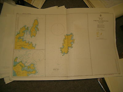 Vintage Admiralty Chart 2622 PLANS IN THE ORKNEY & SHETLAND ISLANDS 1980 edn