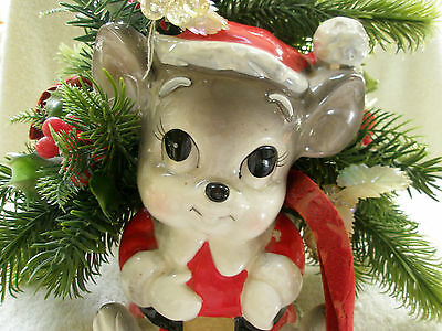 Adorable Vintage Figural Mouse Cheese Planter Country Store Japan