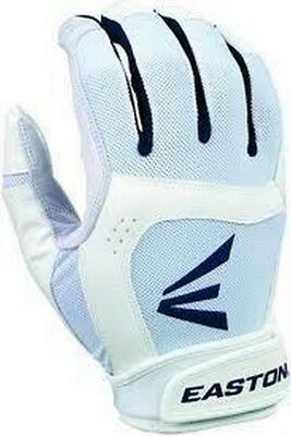 1 Pair Easton Stealth Core Small White / Navy Fastpitch Womens Batting Glove