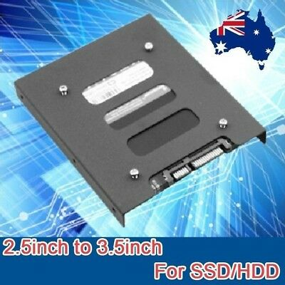 """2.5"""" to 3.5"""" SSD HDD PC Hard Disk Drive Dock Adapter Bracket Metal Mounting Kit"""