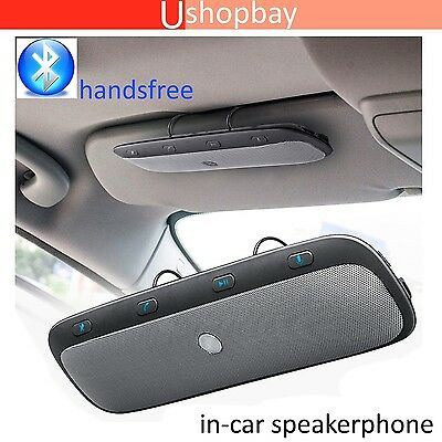 Bluetooth Wireless in Car Multipoint Speaker Phone Visor Clip Hands free Car kit