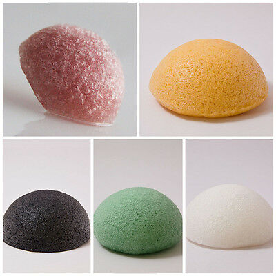 1pcs Eponge Konjac 100% Naturel Douceur Laver Nettoyer Visage Massage Exfoliant