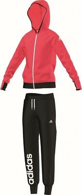 adidas Kinder Mädchen Sport Trainingsanzug Hooded Polyester Tracksuit CH rot sw