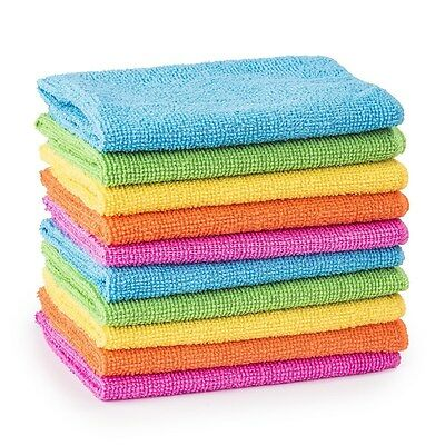 10/20/30/40/50 Microfibre Cleaning Cloths Dusters Car Bathroom Polish Towels