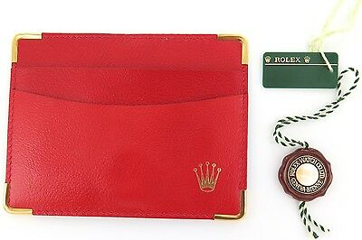 Rolex Vintage / Obsolete 0101.60.05 Red Leather Wallet & Tags.