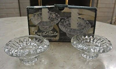 Crystallite 2 Piece Candle Holder Set with Box