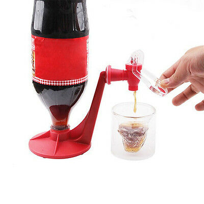 Flossy Mini Upside Down Drinking Cola Beverage Hand Pressure Water Dispenser