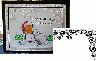 Snowflake Corner 4.25x5.75 Darice Embossing Folder Winter Christmas 1218-117
