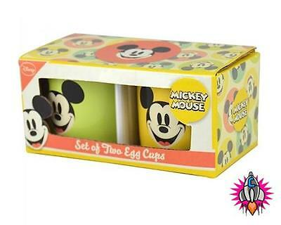 Disney Mickey Mouse Set Of Two Egg Cups Breakfast Set New In Gift Box