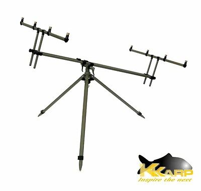 19200135 Supporto per Canne K-Karp Cayenne Giant Rod Pod   RN