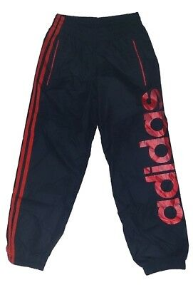 Adidas Performance Junior Woven Shell Track Pants - Navy & Red