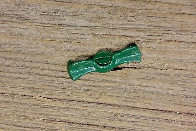 Jelly cupboard cabinet bow tie turn button latch old vintage green paint 1 7/8""