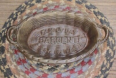 iron wicker Basket vintage organizer SARGENT hardware company 1952 FAMILY DAY