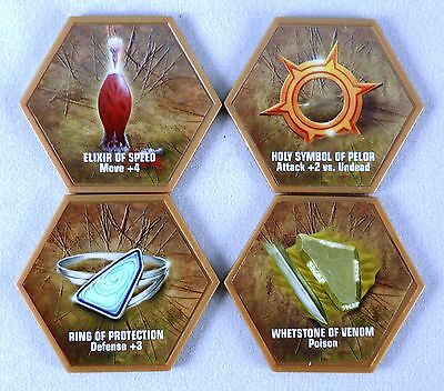 Glyphs from Champions of the Forgotten Realms (4 Glyphs) Used  Misc Heroscape Ga