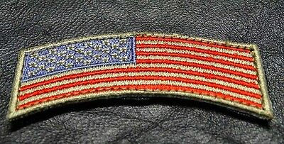 Usa Flag Rocker Tab Tactical Morale Army Military Hook  Patch
