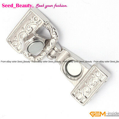 3 Strands White Gold Plated Magnet Clasp gp0377