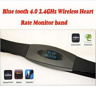 New Hot Bluetooth 4.0 Black Wireless Heart Rate Monitor Chest Strap For Samsung