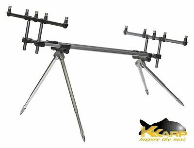 19200300 Supporto per Canne K-Karp Reaction MKII Rod Pod Pesca Lago Torrent RN