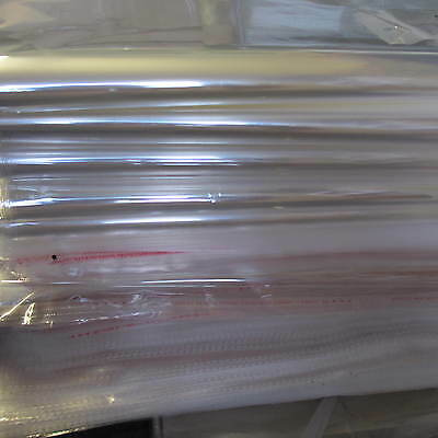 10 - 100 x Large Clear Cellophane Bags Display Self Adhesive Large Packaging