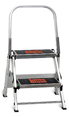 Little Giant 10210B A Jumbo Aluminum 2 Step Safety Step Stool / Stepladder