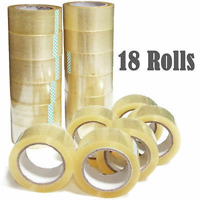 "18 Rolls-2""x110 Yards(330' ft) Box Carton Sealing Packing Package Tape"