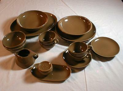 18 Pieces Russel Wright Iroquois Casual Brown Nutmeg Mid Century China