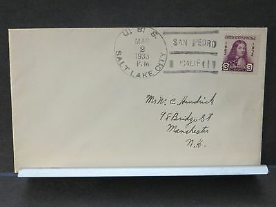 USS SALT LAKE CITY CA-25 Naval Cover 1933 CRUISER SAN PEDRO