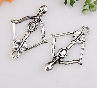 100pcs zinc alloy bow charms 35x24mm 1A613