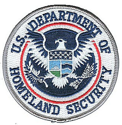 """IRON-ON Dept of Homeland Security DHS 3.5"""" color patch DHS35CLR-H-EPK"""