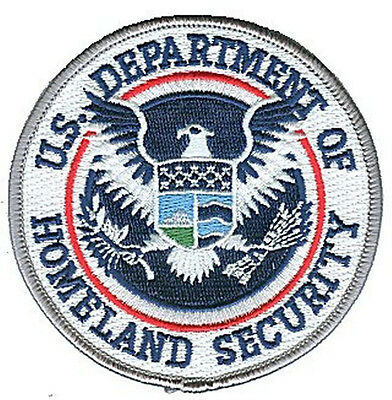 "HOOK/LOOP Department of Homeland Security DHS 3.5"" color patch DHS35CLR-V-IAM"