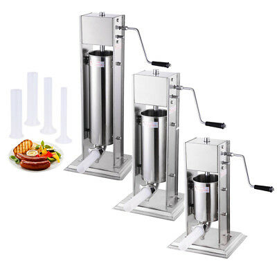Commercial Stainless Steel Vertical Meat Sausage Stuffer Tank Capacity Option