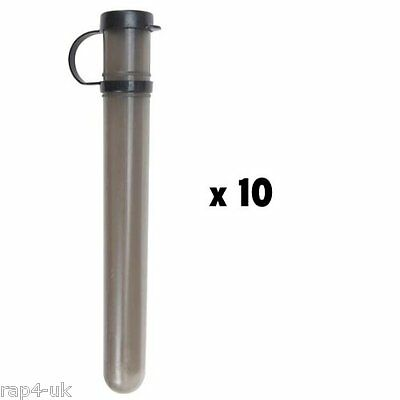 10 Round Plastic paintball tubes (10 pack) [CB4]