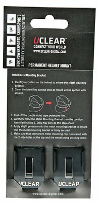 UClear Permanent Helmet Mounting Clips for HBC100/200 Series 2 Pack