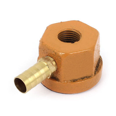 """14 1/8"""" Male Thread 3/8"""" Barb Water Coolant Hose Connector Magnetic Coolant Base"""