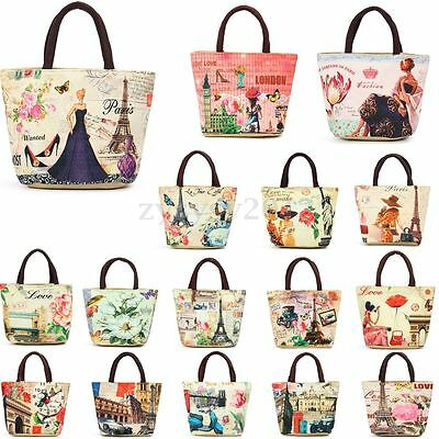 Women European Thermal Tote Lunch Bag Picnic Cool Cooler Box Carry Handbag Pouch