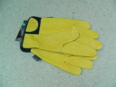 Town & Country Classics Mens Deluxe soft leather Gardening Gloves Med size 9-10