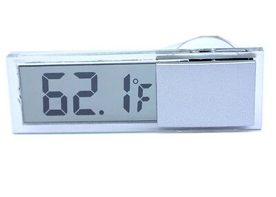 1pc LCD Digital Temperature Thermometer tester gauge Display Car meter Suction